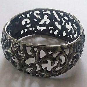 Dark silver bracelet